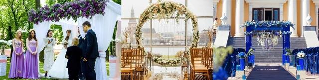 Оформлення арки на виїзну церемонію шлюбу