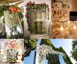Дзеркала у весільному декорі фото