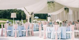 Оформлення залу на весілля фото