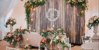 Оформлення весільного столу молодят