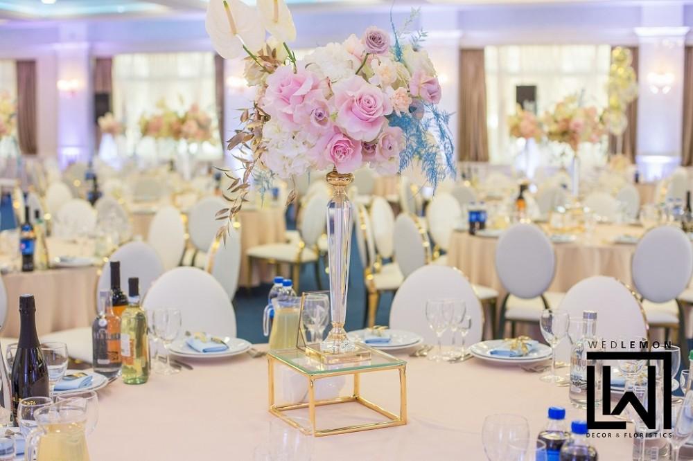Лакшері декор на весілля, оформлення залу на весілля