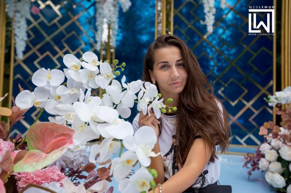 Оформлення весілля Львів в блакитно, синіх кольорах