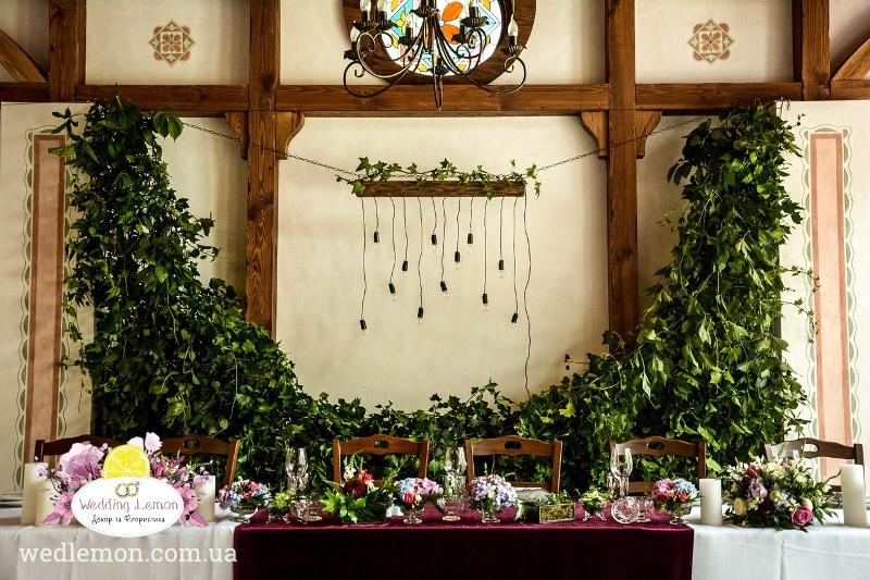 Весільний стіл оформлення