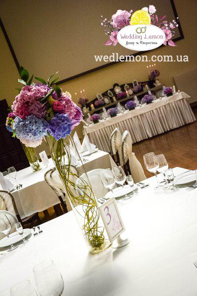 Квіти на столи весілля