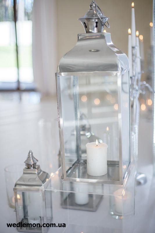 ліхтарі на весілля металеві зі свічками