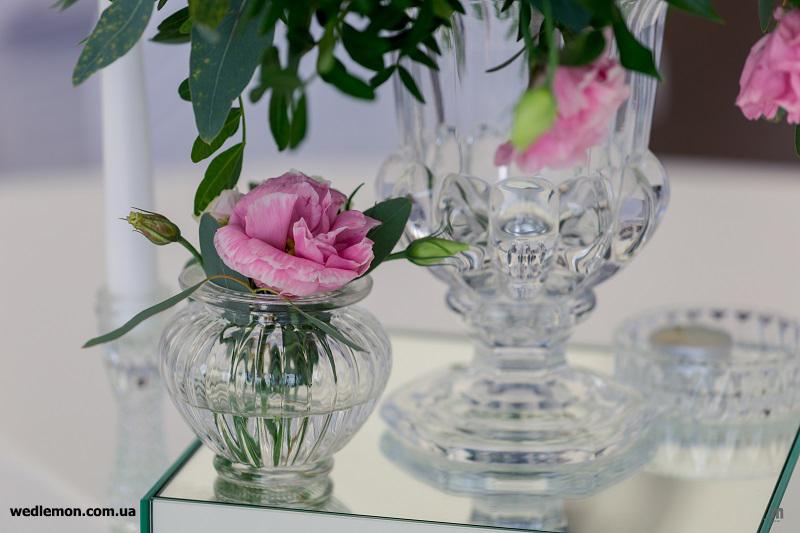 Дзеркала, дзеркальні підставки для квітів на столи гостей