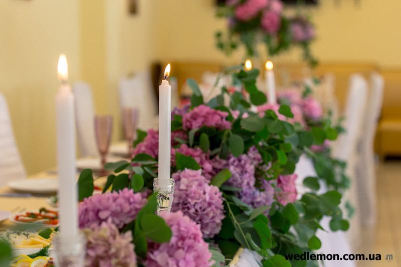 Скляні декори на весілля