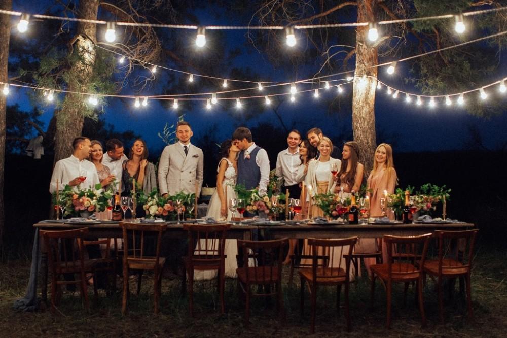 Організація весілля на природі у Львові, весілля на галявині, весілля в котеджі