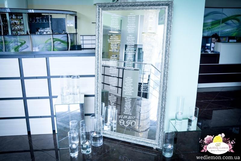 Схема розсадки для гостей на дзеркальній вазі