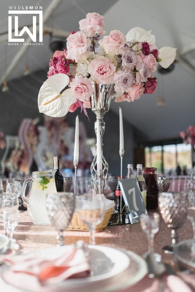 Квіткові композиції на весілля, весілля гарден сад