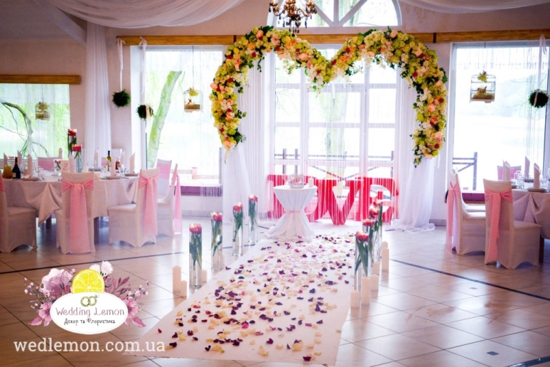 арка серце на весілля