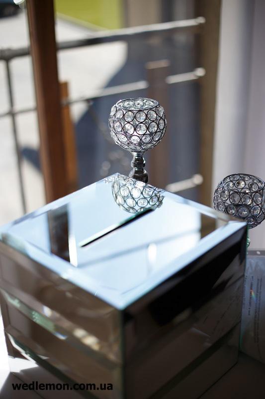 скринька для грошей на весілля дзеркальна