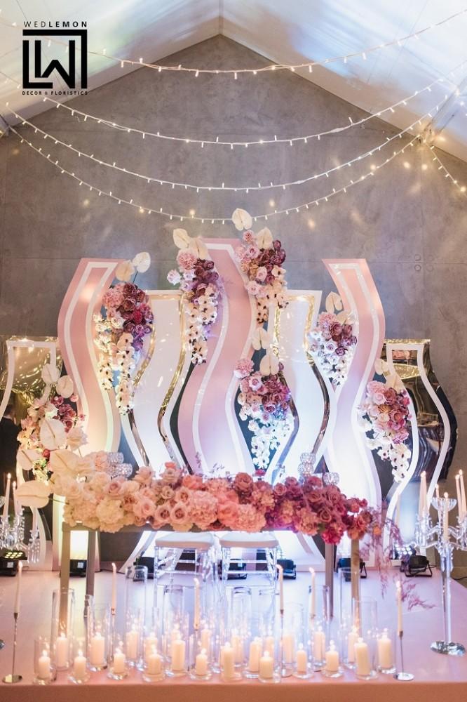 Світлове оформлення залу на весілля у Львові