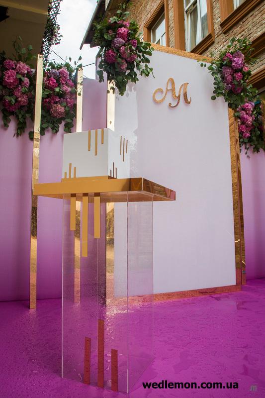 прозорий стіл на весілля
