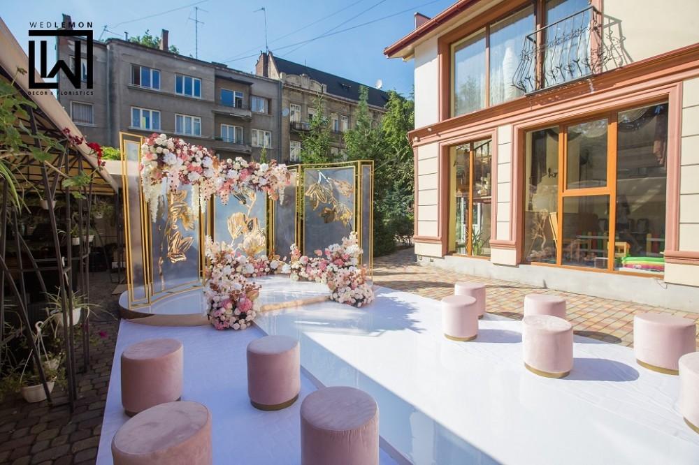 Організація весілля під ключ у Львові, гарне сучасне оформлення на весілля