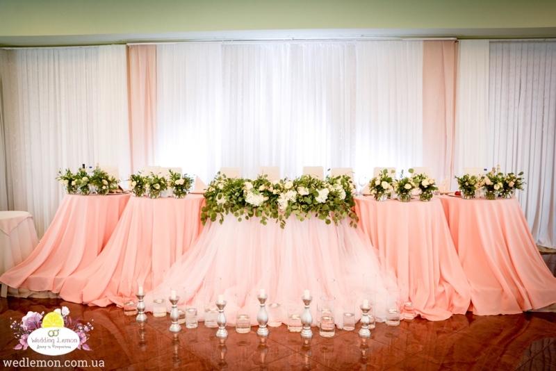 весільний стіл молодят оформлення