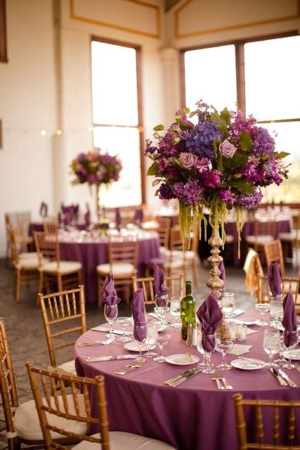 Оформлення гостьових столів на весілля
