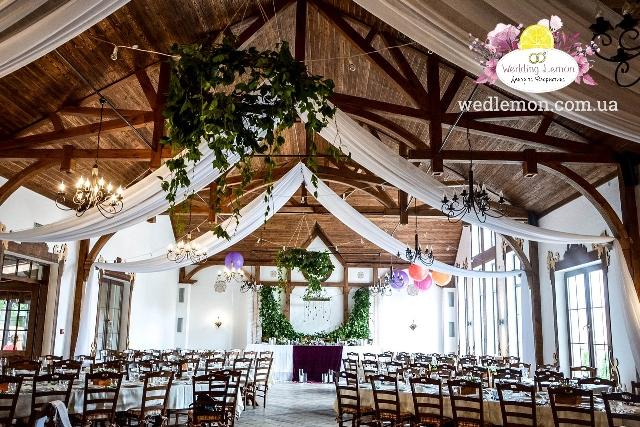 Оформлення стелі на весілля