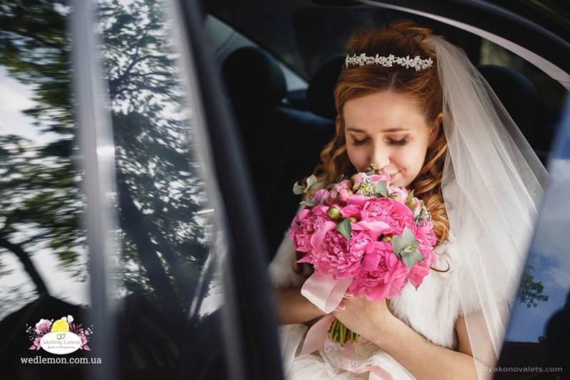 Букет нареченої рожевий