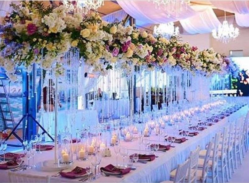 Декор столів у весільному оформленні
