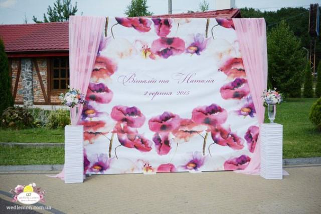 Фотостіна на весілля Львів