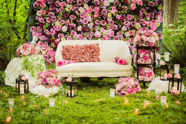 фотозона на весілля з живих квітів