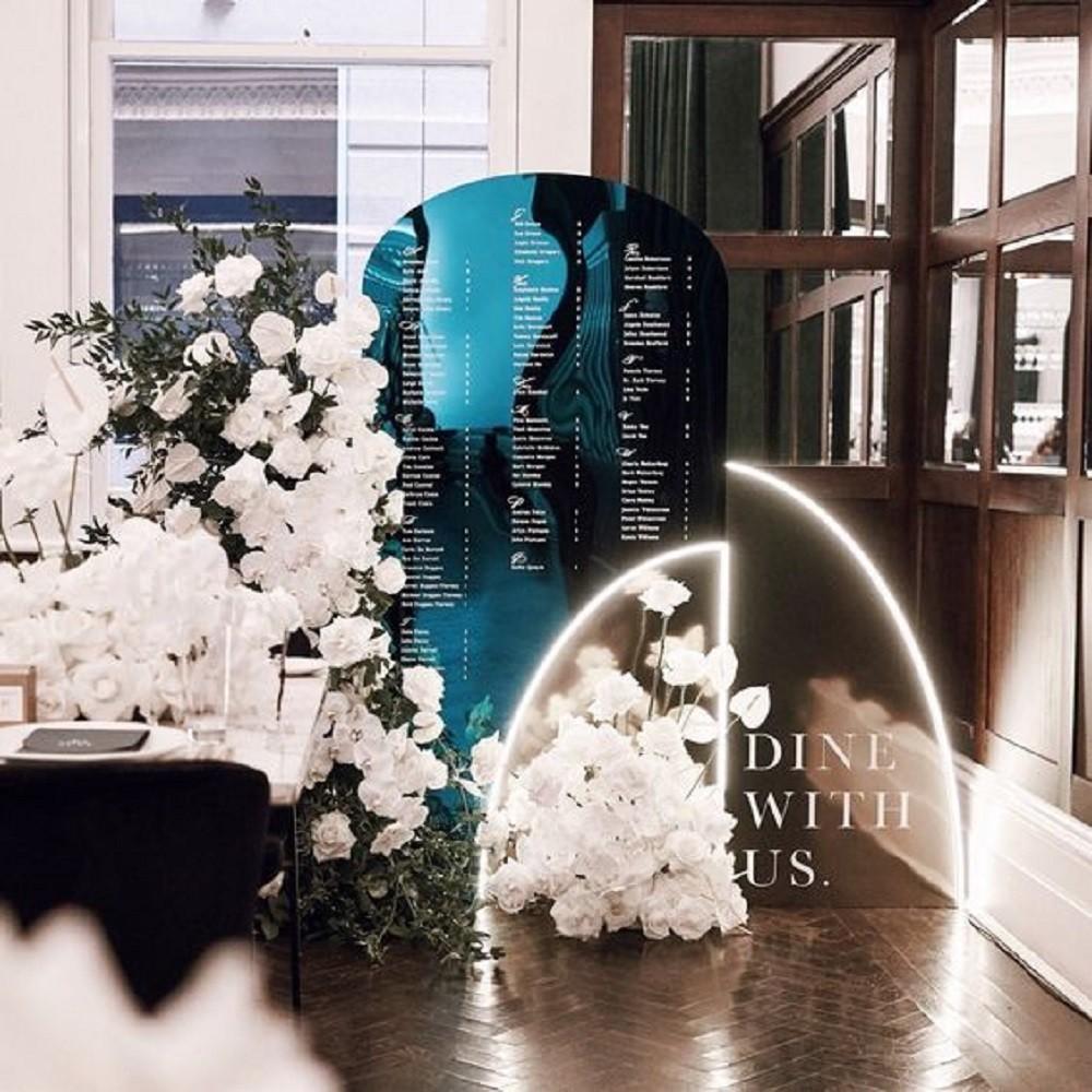 план схема на весілля як зона зустрічі гостей