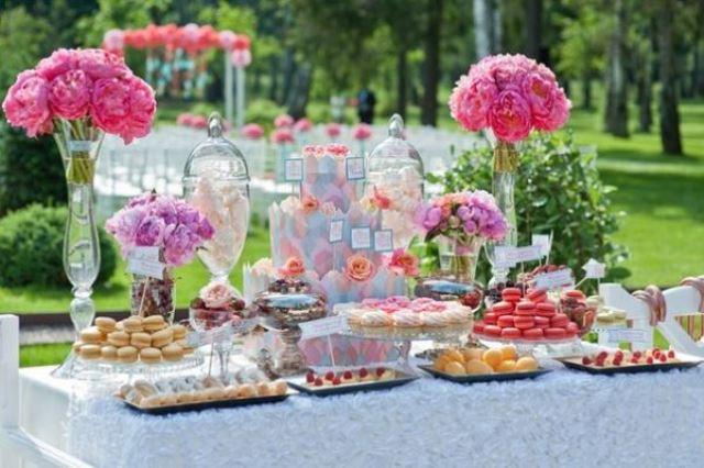 Солодкий стіл в квітах