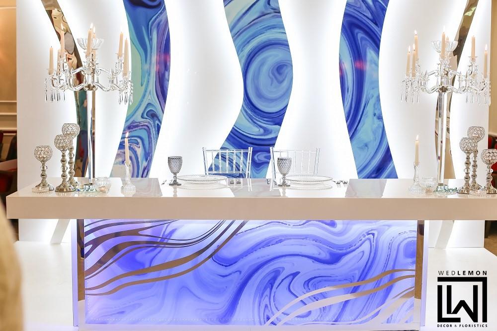 Стіл молодят ідея, вітражні столи на весілля