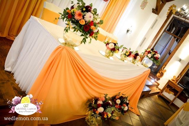 Жоржини в оформленні весілля